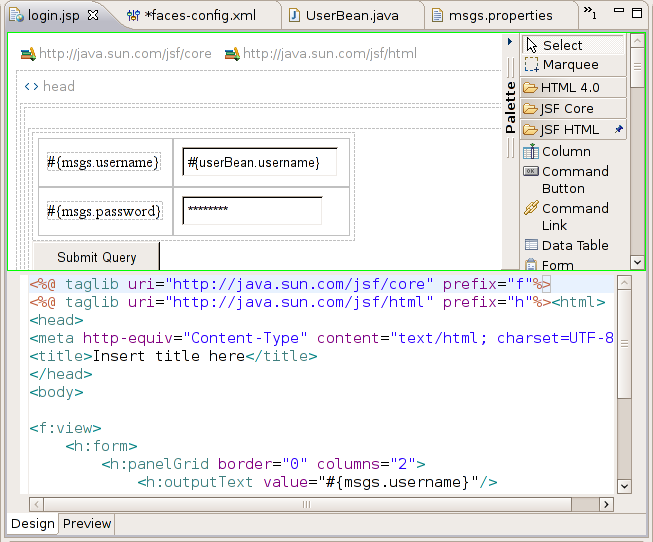 JSF Support in Eclipse Europa and NetBeans 6 0m10